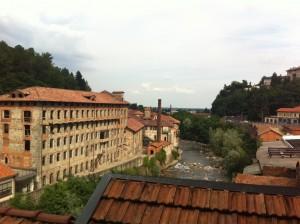 Biella vista da Cittadellarte
